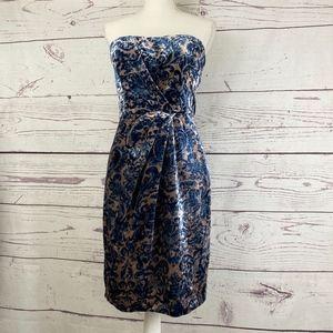 PROJECT ALABAMA Velvet Inked Strapless Dress
